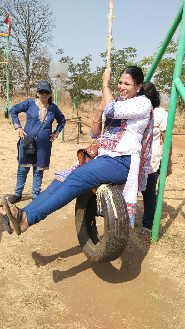 TYRE SWINGS in Dirghayu Farms